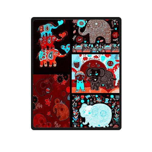 "Love My Baby Dark Elephants For Collection Custom Blanket 40""X 50""(Small) front-1011390"