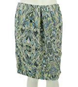 Ellen Tracy Pleated Front Print Skirt