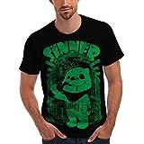 Wellcoda Sinner Bear Bad Boy Men's NEW Honey Cartoon Winnie the Pooh Thug Drinking Stoner Lout Yob ASBO Nostalgia T-Shirt S-5XL
