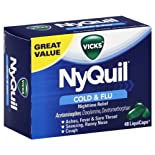 Vicks NyQuil Cold & Flu, Nighttime Relief, LiquiCaps, 48 ea