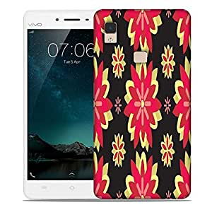 Snoogg Red Flowers Designer Protective Phone Back Case Cover For Vivo V3 Max