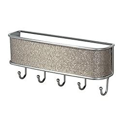 InterDesign 95872 Wall Mount Organizer Rack, 10.5 x 2.5-Inches, Metallico