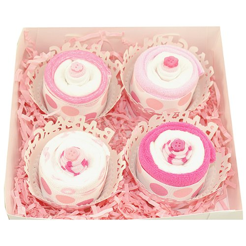 "Nyc Baby Sweets ""Washcloth And Sock Cupcake Box Set "" (Girl) front-644084"