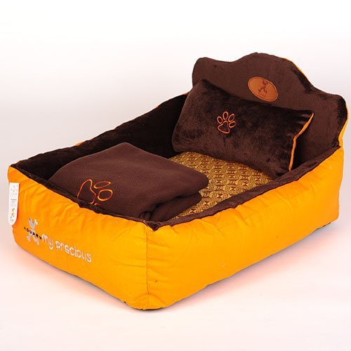 Luxury-Dog-Beds-Designer-Pet-Beds-with-Cozy-Pillow-Blanket-for-Dog-Cat-by-Duke-Austin