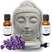 Kazima Ceramic Electric Aroma Oil Diffusers With Free Lavender & Lemongrass Essential Oil 15ml - B01KX45CO6