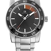 Boss Orange 1512859 - Reloj analógico de cuarzo para hombre con correa de acero inoxidable, color plateado de Boss Orange