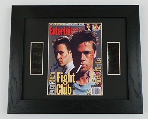Fight Club Cast Signed + Original Fight Club Film Footage Framed