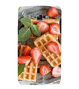 printtech Waffle Fruits Back Case Cover for Samsung Galaxy J1 / Samsung Galaxy J1 J100F