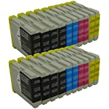 20x Patronen kompatibel für Brother LC970 LC-970 DCP-135C DCP-150C MFC-235C MFC-260C