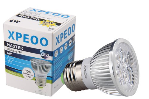 Xpeoo® E27 E26 Led Bulb Lamp Light Spot Recessed Lighting 50W Halogen Energy Saving Smd Non-Dimmable Cool/Warm White Standard Base Socket 6W 110V 120V (E27 Non Dimmable Warm White 110V)