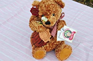 100th Anniversary Bear Limited Edition Teddy's Teddy 1902 President Theodore Roosevelt's Mississippi Hunting Trip. Honey Jar in Hand Bee on Nose and Paw Red/beige Plaid Bow