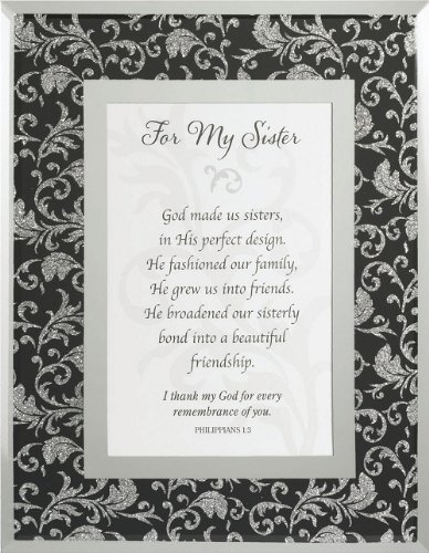 For My Sister Gift Framed Tabletop Christian Bible Verse Philippians