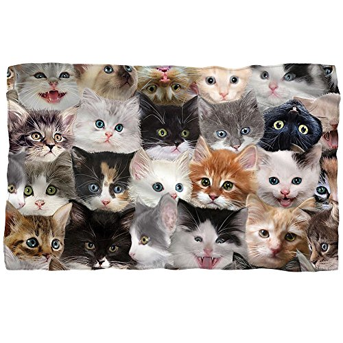 Different Cat Breeds Throw Blanket - Printed in US For Feline Lovers