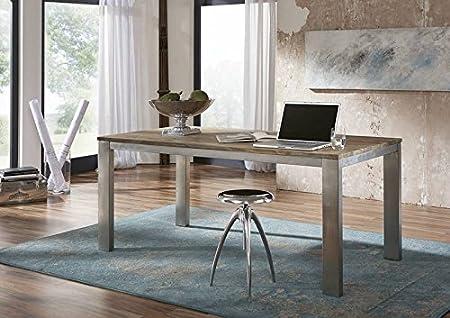 Sheesham massivmöbel 240 x 100 table de salle à manger en bois de palissandre massif naturel gris#805