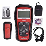 KSRPLAYER KW808 Car Scanner Diagnostic EOBD OBD2 OBDII Data Code Reader Check Engine Scan (Color: Red)