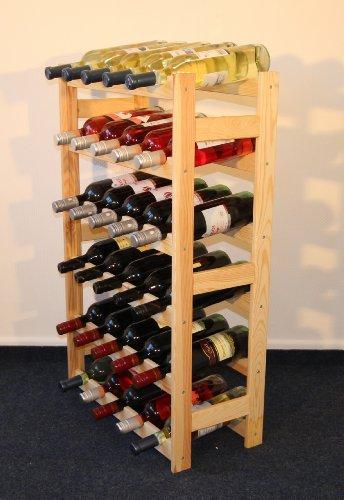 Len Mar.de Weinregal Weinregal Holz Flaschenregal für 30 Flaschen R - 30