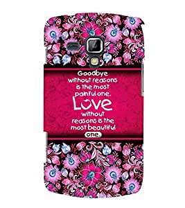 Love Quote 3D Hard Polycarbonate Designer Back Case Cover for Samsung Galaxy S Duos 2 S7582