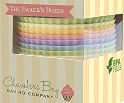 Premium Reusable Silicone Cupcake Liners / Baking Cups - No BPA - Standard Size