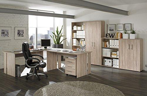 Komplettes-Arbeitszimmer-Brombel-in-Eiche-8-teilig