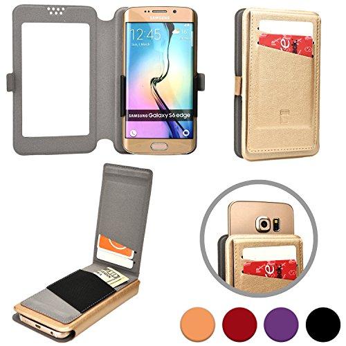 Cooper Cases(TM) Slider Flip Custodia a Portafoglio per Motorola Atrix HD, Electrify 2, Electrify M, Luge in Oro