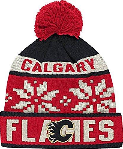 e8ea02fddc0 NHL Calgary Flames Men s Face-Off Winter Cuffed Pom Knit - Import It All