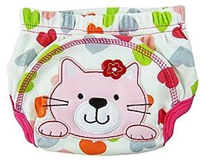 LinTimes unisexo bebé animal pañal, medio, gato marca LinTimes