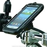 Motorcycle M8 Handlebar Clamp Mount & IPX4 Waterproof Tough Case for Samsung Galaxy S3 SIII GT-i9300