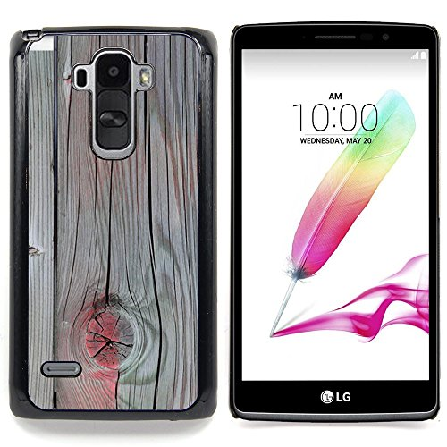Accent Grey Wood Paint Cracked Custodia protettiva Progettato rigido in plastica King Case For LG G Stylo / LG LS770 / LG G4 Stylus