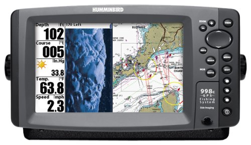 Humminbird 998c SI Combo 8-Inch Waterproof Marine GPS and Chartplotter with Sounder