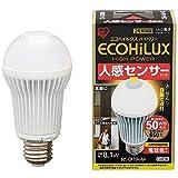 アイリスオーヤマ LED電球 E26口金 50W形相当 電球色 下方向タイプ 人感センサー エコハイルクス LDA8LHS1