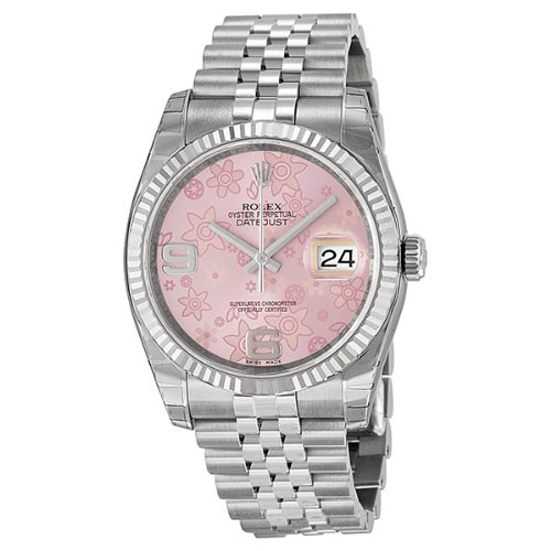 Rolex Oyster Perpetual Datejust Floral Dial Ladies Watch 116234PAFJ