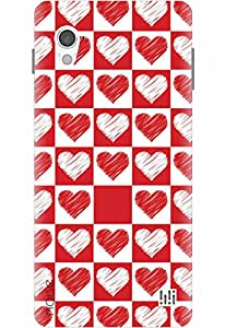 Noise Designer Printed Case / Cover for InFocus M370 / Patterns & Ethnic / Red and white hearts Design