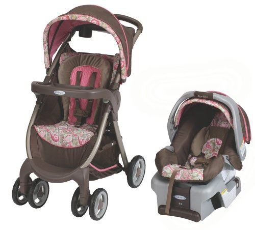 Find Discount Graco FastAction Fold Classic Connect DLX Travel System, Jacqueline