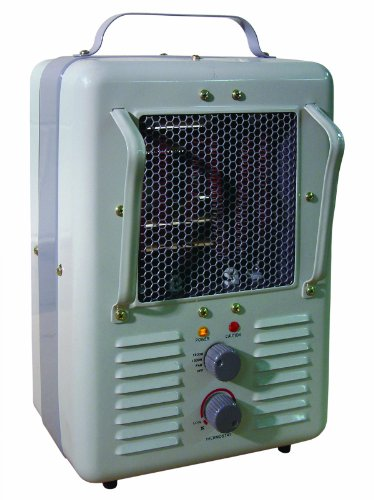TPI Corporation 188TASA Fan Forced Portable Heater, Milk House Style Fan, 1500/1300W, 120V