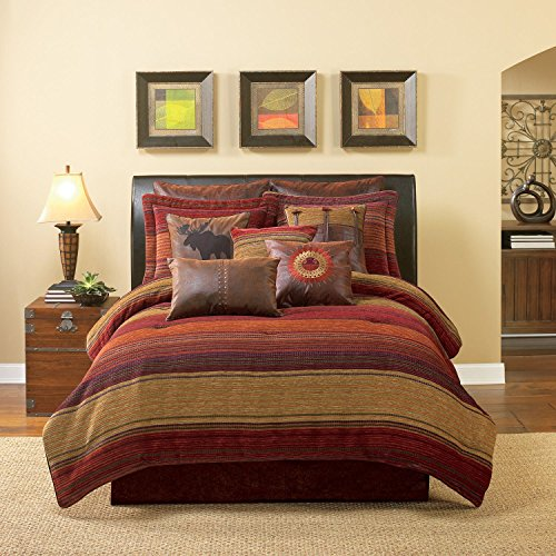 Croscill Southwestern Plateau Stripe King Comforter Bundle Set_8 Piece front-808207