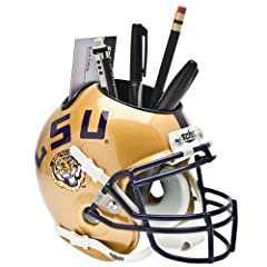 Buy NCAA LSU Tigers Helmet Desk Caddy, Gold by Schutt