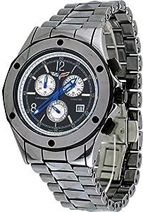 Corvette #CR215 Men's Stingray Tungsten Swiss Chronograph Black Dial Watch