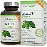 NatureWise 5-HTP Plus+ with Advanced Time Release - Supports Appetite Suppression, Mood, Stress, and Sleep, 200 mg, 30 count