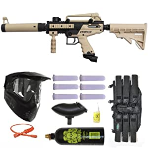 Buy Tippmann Cronus Paintball Marker Gun -Tactical Edition- Tan Player Package by Tippmann