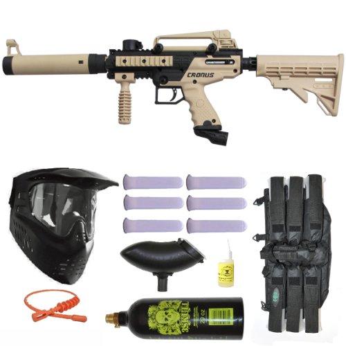 Tippmann cronus tactical paintball gun 3skull mega set tan