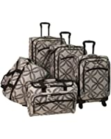 American Flyer Luggage Silver Clover 5 Piece Set Spinner