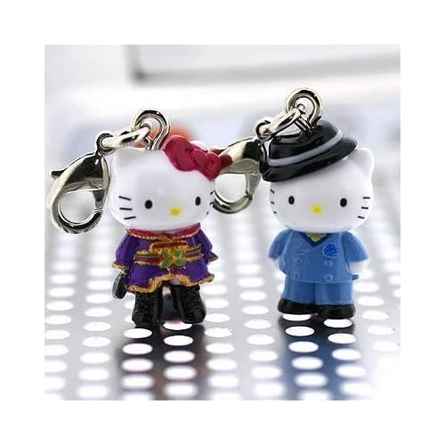 Sanrio Hello Kitty x Anime Paradise Kiss Pair Kitty Charms Set (Strap not included) (Japanese Import) ***Free Domestic Standard Shipping For This Item