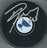 Autographed Dave Lowry St. Louis Blues Hockey Puck