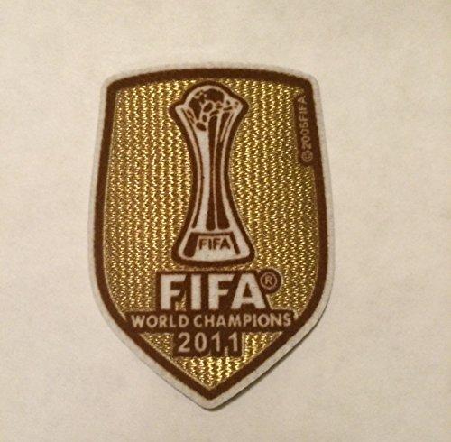 BARCELONA FIFA CLUB WORLD CHAMPION 2011 MESSI,INIESTA,VILLA PATCH,BADGE,PARCHE (Fifa World Champions Patch compare prices)