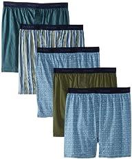 Hanes Men's Classics 5-Pack Woven Box…