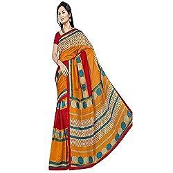 Pawan Tex Bhagalpuri sree for women's (Bhagalpurimix04_mustard yellow)