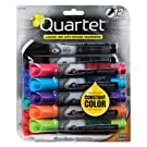 Quartet EnduraGlide Chisel Tip Dry-Erase Markers, Assorted Colors, 12 Pack