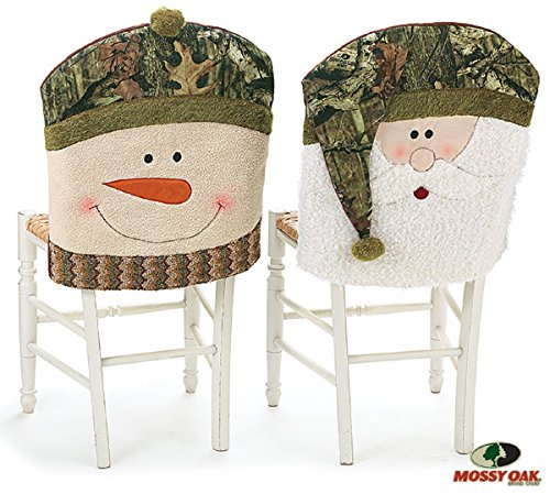 Santa and Snowman Camouflage Christmas Chair Back Covers