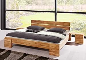 stilbetten bett holzbetten sara kernbuche high mit bettkasten 200x200 cm k che. Black Bedroom Furniture Sets. Home Design Ideas