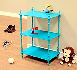Frenchi Home Furnishing Kid s 3-Tier Shelves Blue